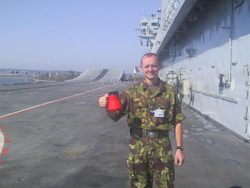 On the flight deck of HMS Ark Royal