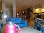 Relaxing in the Foyer of Le Meridien Hotel, Dakar